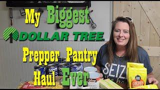 My Biggest Dollar Tree Prepper Pantry Haul Ever ~ Food Storage ~ Preparedness