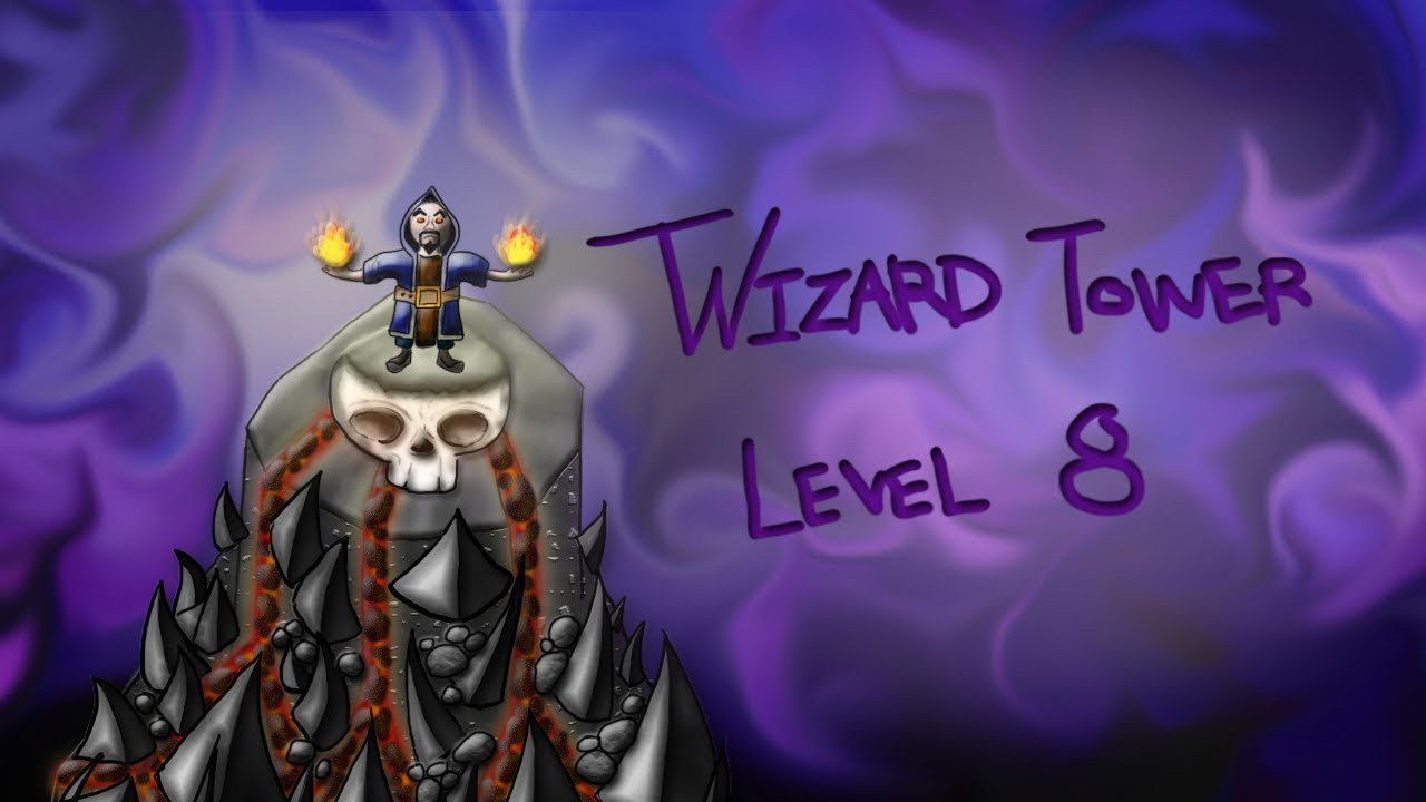 Clash of Clans - Wizard Tower Level 8 (idea) Speed Art ...