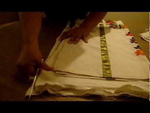Como cortar una blusa de manta marimur 277 youtube - Como hacer cuadros de tela ...