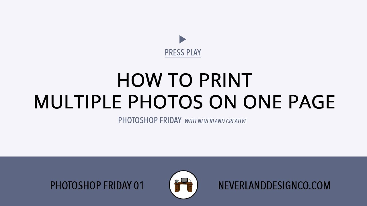 How to print multiple pictures on a single sheet of photo ...
