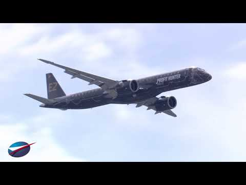 Vol de l'Embraer E195-E2 | Salon du Bourget 2019