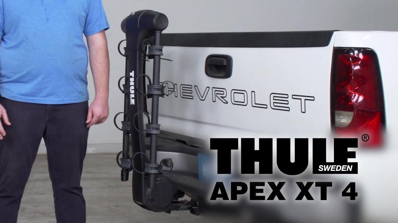 thule apex xt 4 bike rack review and demo