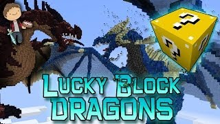 Minecraft: Lucky Block DRAGONS! Modded Mini-Game w/Mitch & Friends!