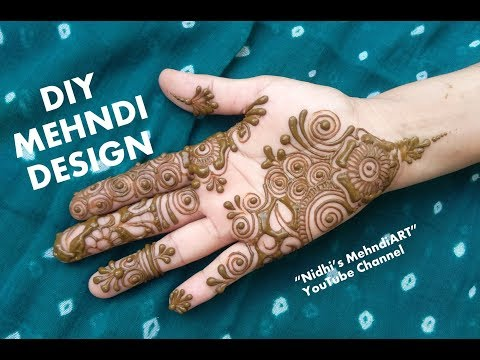 simple mehndi designs for hands step by step Tutorial