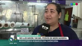 SE LLEVARON MAS DE 100 MIL PESOS Y MAQUINAS DE UNA CARNICERIA EN ALTO ALBERDI  LOS DUEÑOS NO SABEN S