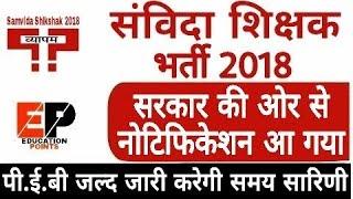 संविदा शिक्षक (नियमित शिक्षक) भर्ती का नोटिफिकेशन सरकार ने किया जारी | MP Samvida Shikshak Bharti 20