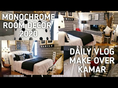 Monochrome Room Decor 2020 | Makeover Kamar Monokrom ...