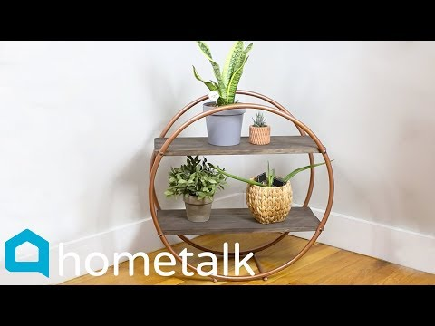 Hula Hoop Hack | How to get high-end shelving—with Dollar Store hula hoops! | Hometalk
