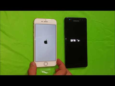 IPhone 7 Vs Galaxy Note 7 - Boot Speed