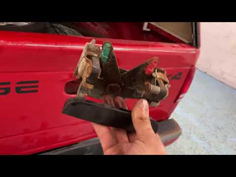 2001 Dodge Dakota Rear Latch Handle Fix and Replace Free DIY
