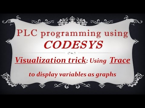 CODESYS: Visualization trick - Trace: Displaying variables using Trace element as a graph