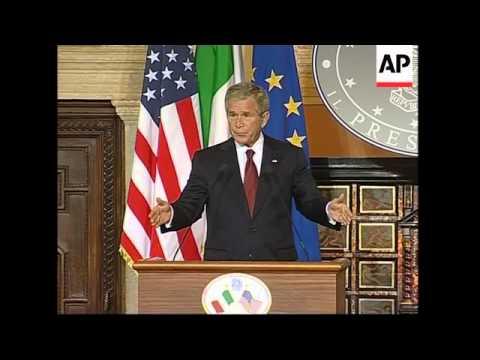 Bush and Berlusconi joint presser