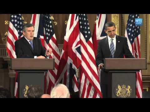 President Obama and Prime Minister Browns Joint Presser