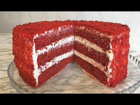 Рецепт торта красный бархат в домашних условиях