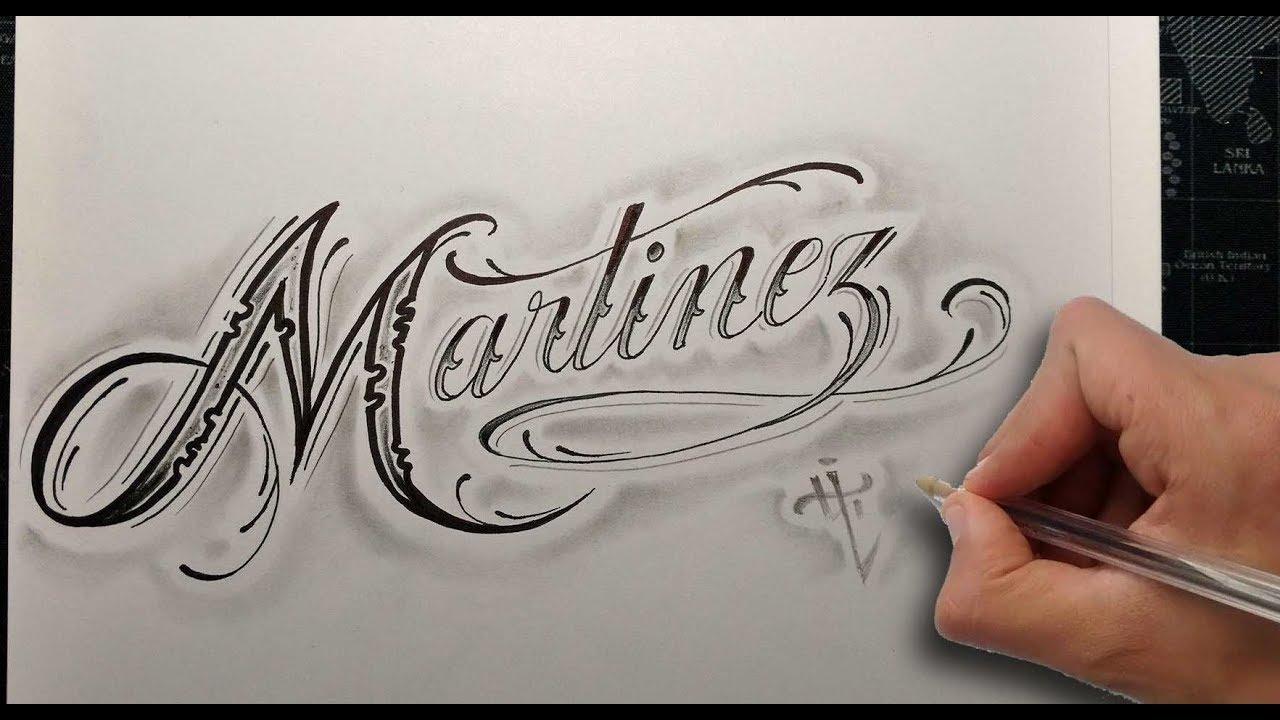 Dibujando Letras Chicanas Martínez Drawing Chicano Lettering Nosfe Ink Tattoo
