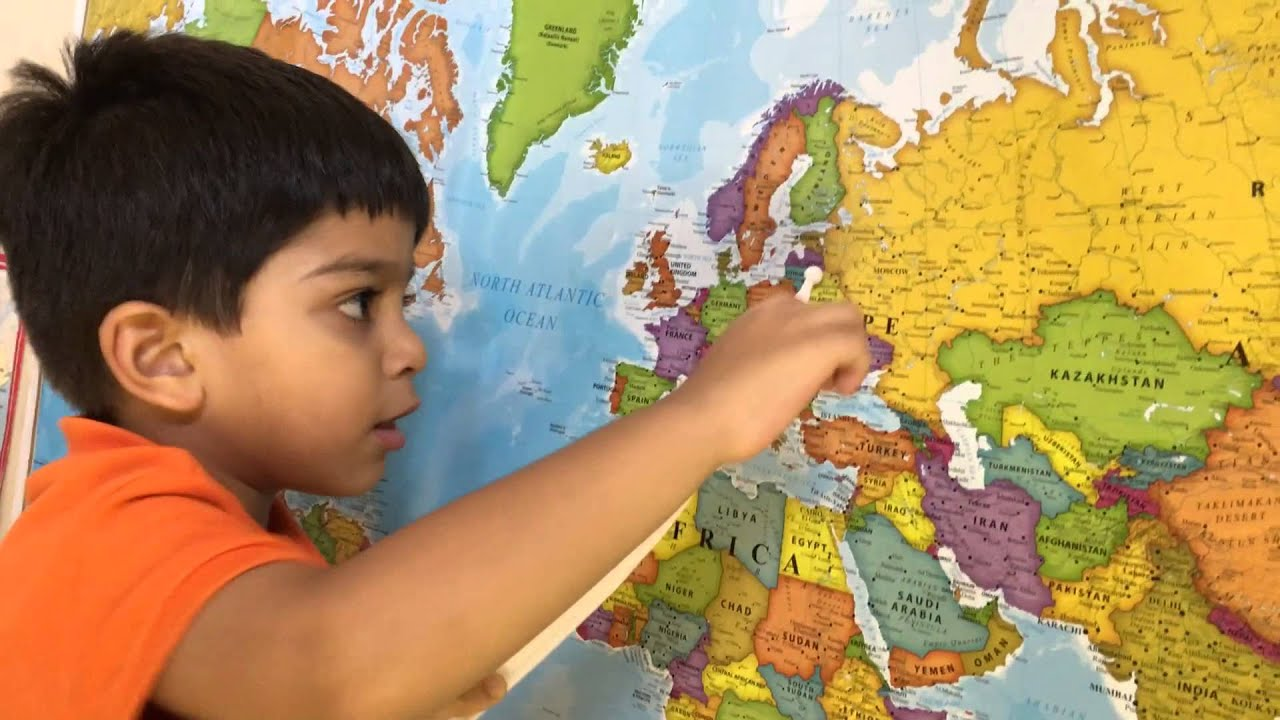 Amazing Year Old Kid Names All Countries On World Map YouTube - World map with names