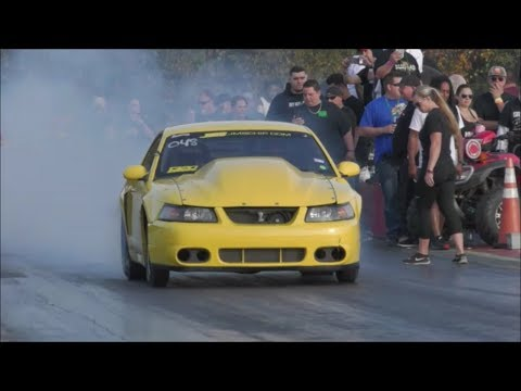 BoostedGT vs Case Racing turbo coupe at the dirty south no prep