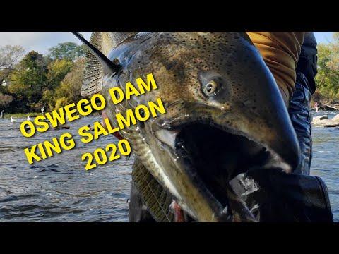Oswego Dam, Fishing For Salmon