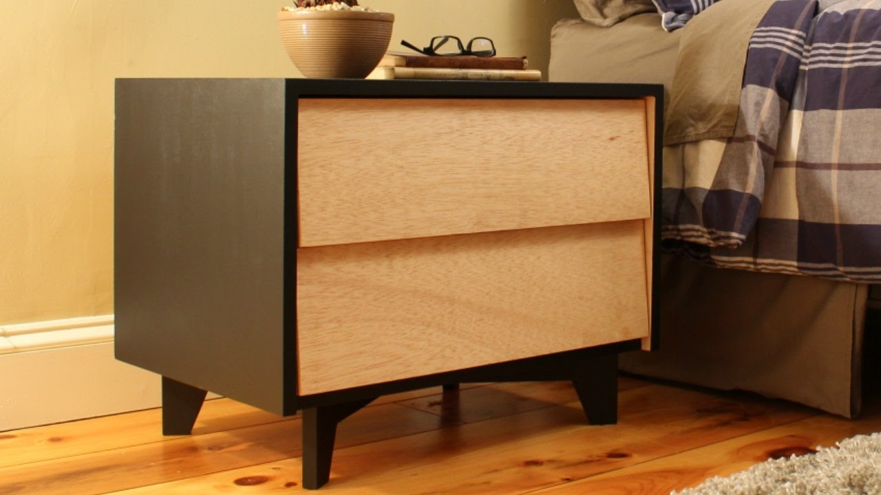 How to make a Mid Century Modern Nightstand