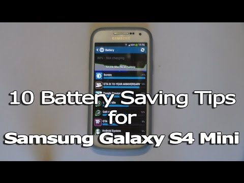 10 Battery Saving Tips for Samsung Galaxy S4 Mini