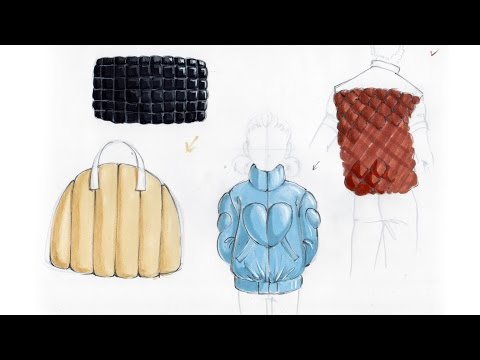 Fashion Illustration Tutorial: Quilted Fabrics
