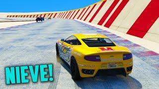NIEVE EN GTA V!!!!! - CARRERA GTA V ONLINE - GTA 5 ONLINE
