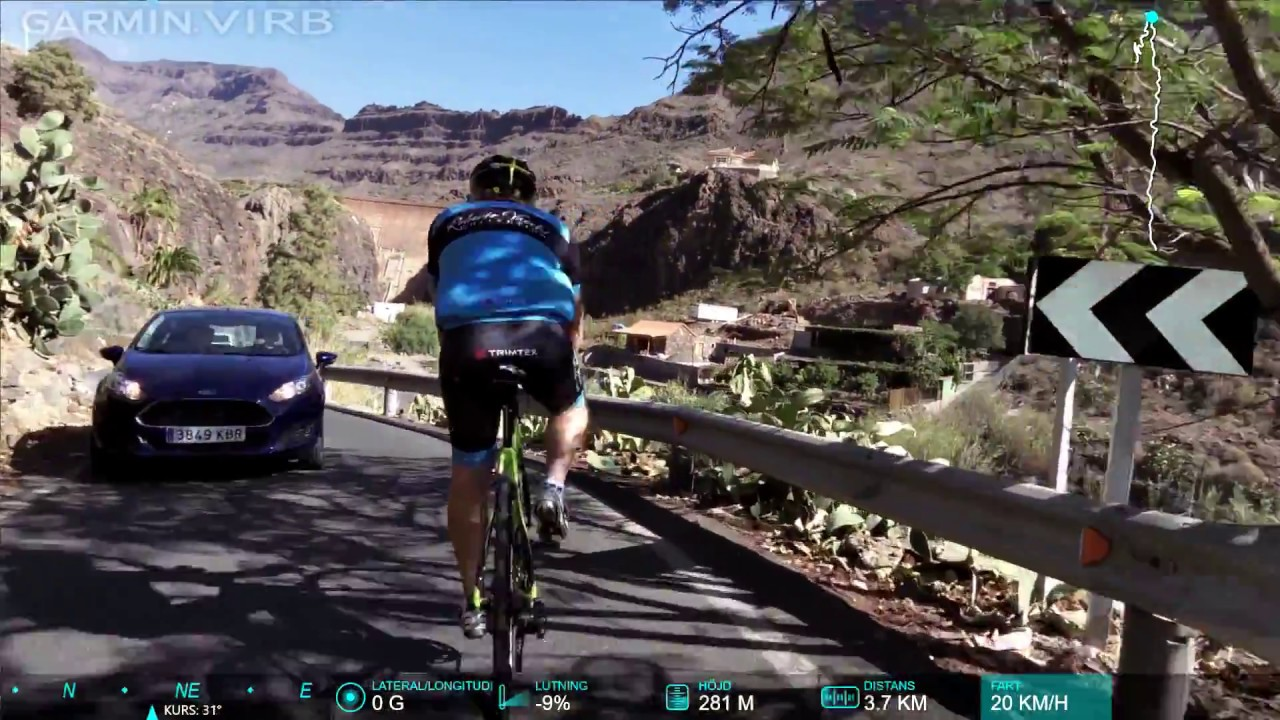 Cycling downhill from mountain monte le n gran canaria - Monte leon gran canaria ...