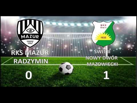 6 Kolejka Liga Okregowa 2018/19 - Mazur Radzymin - Swit II NDM 0:1 Skrot Meczu