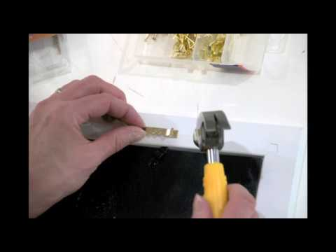 How To Install A Sawtooth Hook On A Picture Frame Youtube