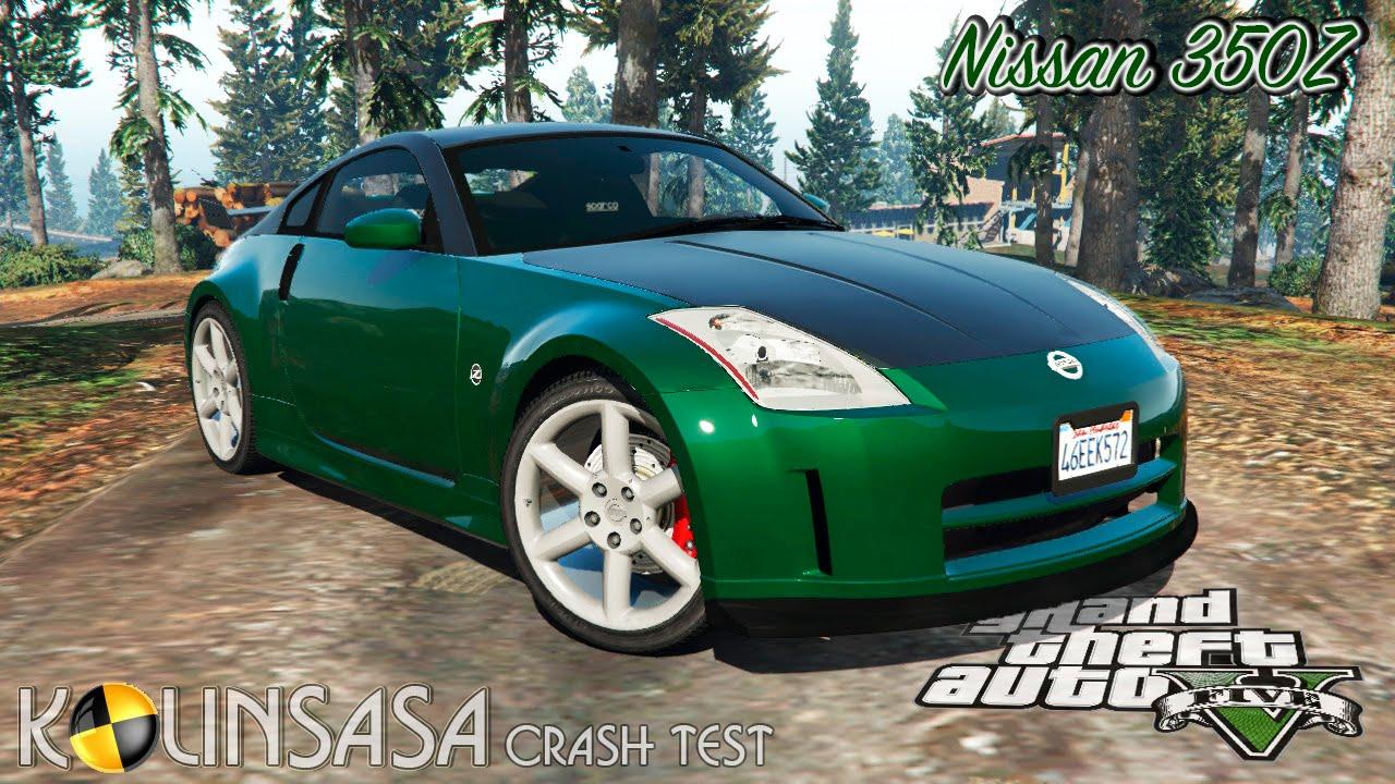 Gta 5 Crash Test Nissan 350z