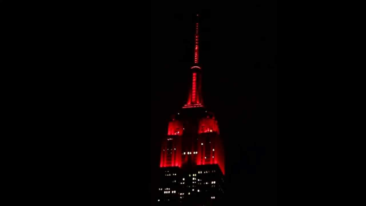 Empire State Building Lights For Valentine S Day Youtube