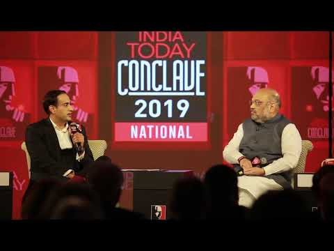 Shri Amit Shah At India Today Conclave 2019 (01 March 2019)