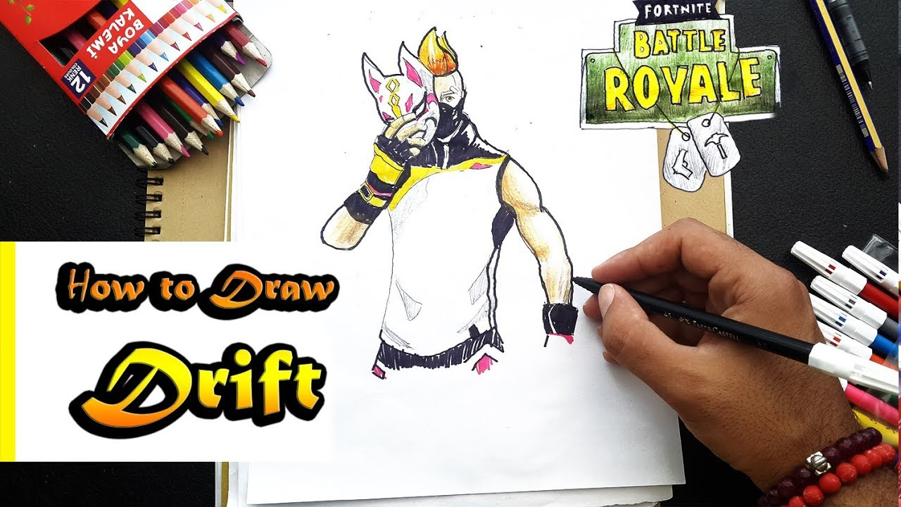 How To Draw Drift From Fortnite Battle Royal Art