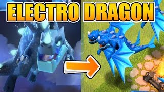 "FINALLY !! NEW TROOP ""ELECTRO DRAGON"" IS HERE !! OP TROOP IN CLASH OF CLANS 2018 UPDATE OF TH12"