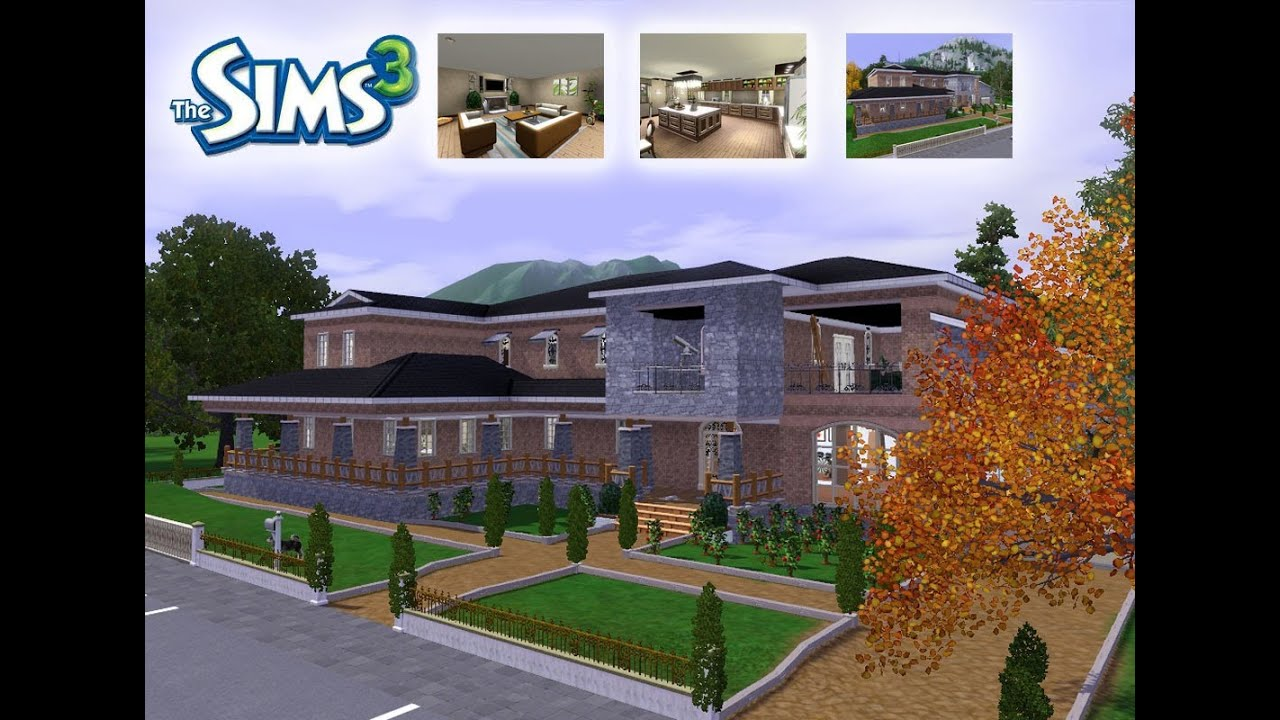 The Sims 3 House Designs   Springside Ranch   YouTube