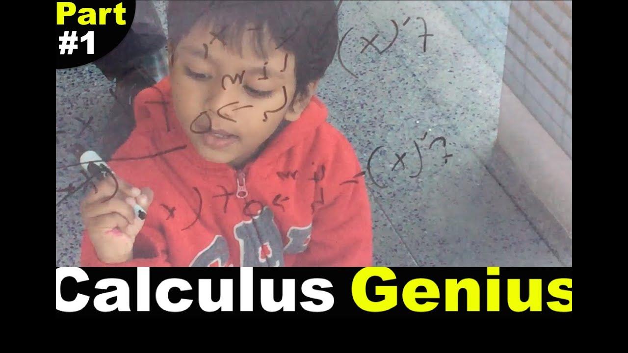 4 Year-old Calculus Genius