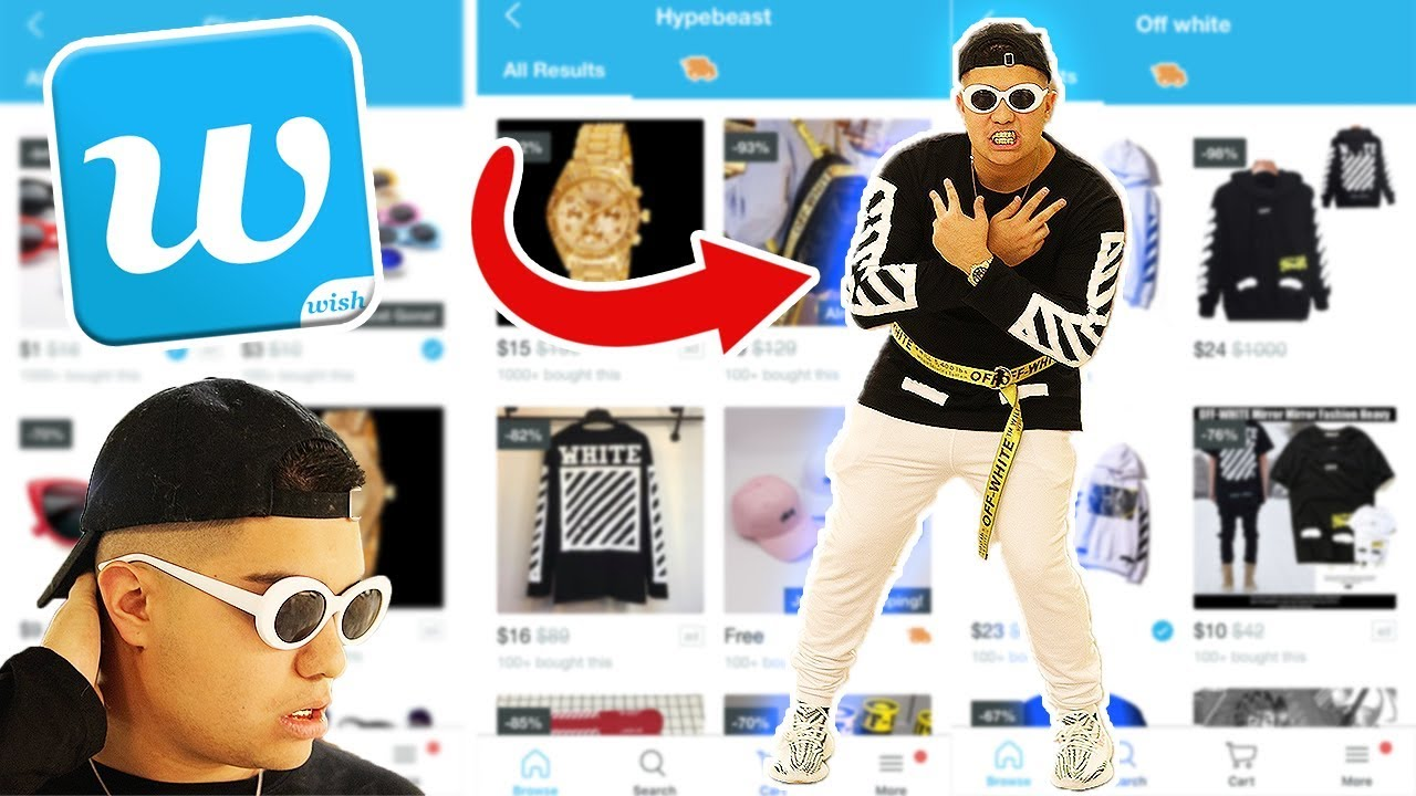 0aef21cd I BOUGHT AN ENTIRE HYPEBEAST OUTFIT FROM WISH!! **WEARING IT TO THE MALL**