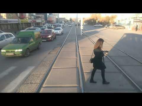 Ачинск. Покатушки на трамвае маршрута №1 :-)