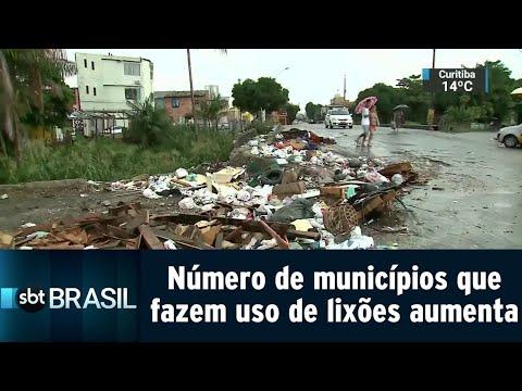 Número de municípios que fazem uso de lixões aumenta no país | SBT Brasil (14/09/18)