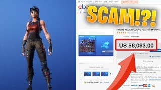 I found a SUPER RARE Fortnite account on eBay (SCAM WARNING)