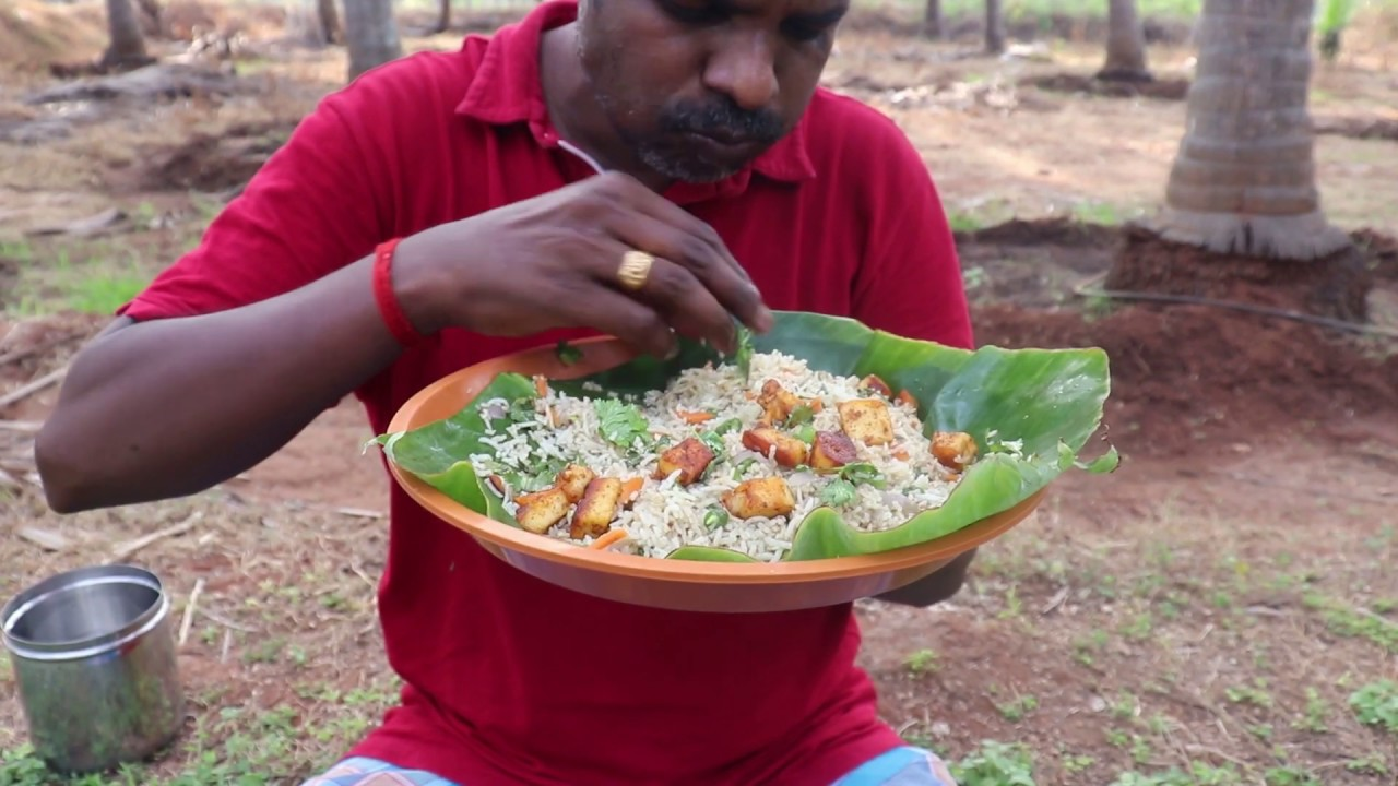Eating PANEER FRIED RICE in open place I Super Taste I Eating Show