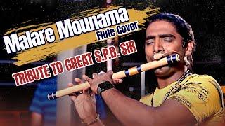 Malare Mounama | Tribute To Great S.P.B.Sir | Rajesh Cherthala | Flute Cover