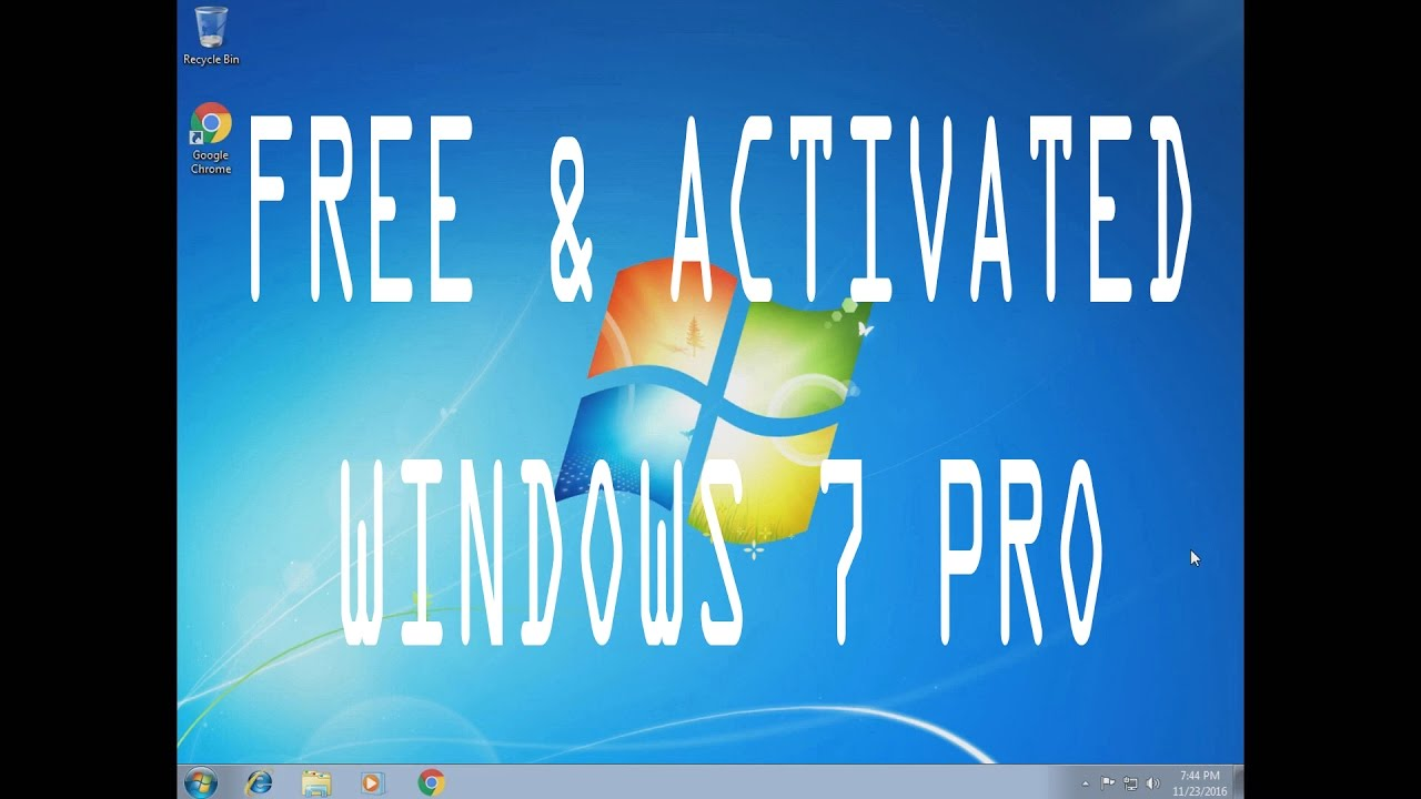 How To Install & Activate Windows 7 Professional 64 Or 32 Bit (2016/2017)