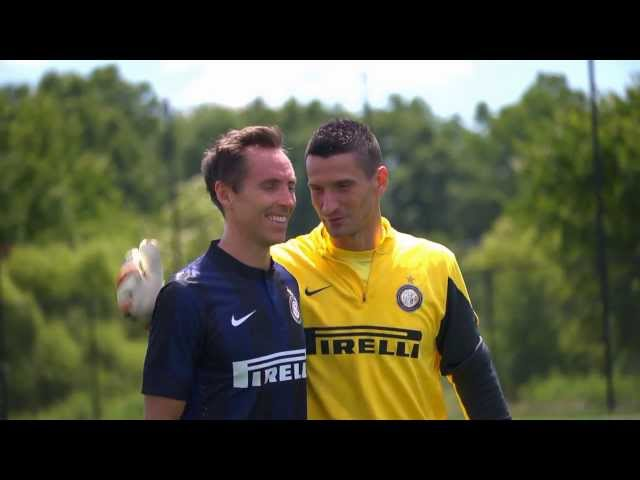 Steve Nash works out with Inter Milan!