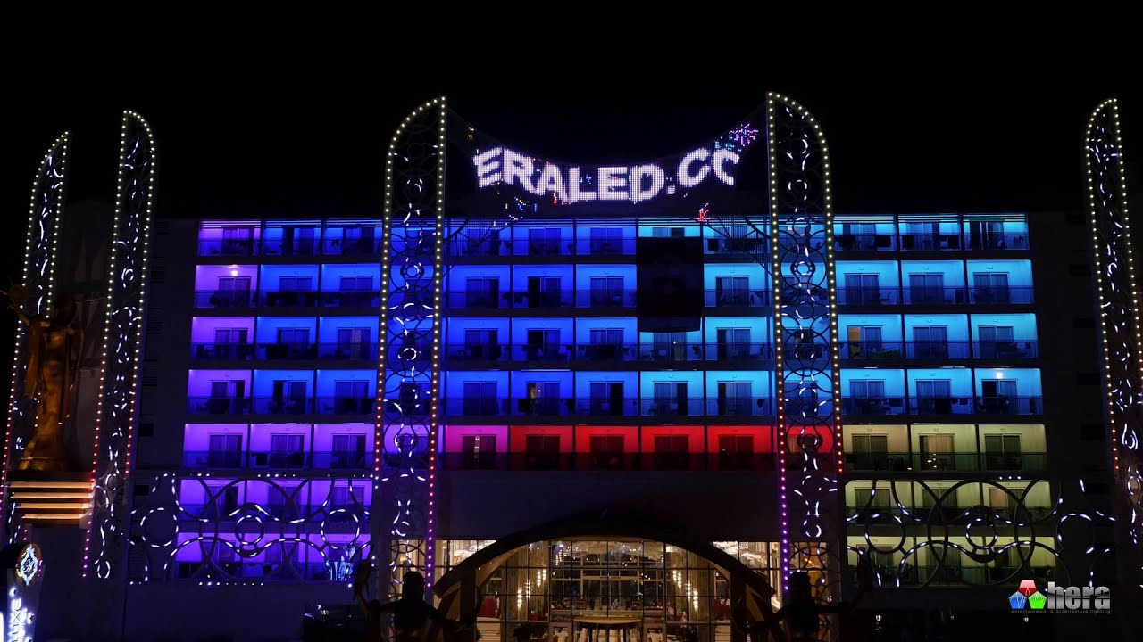 Azura Deluxe Hotel Facade Lighting Dış Cephe Aydınlatma Pixel Led Antalya You