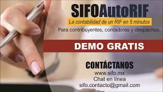 SIFO | AUTORIF Sistema contable para RIF