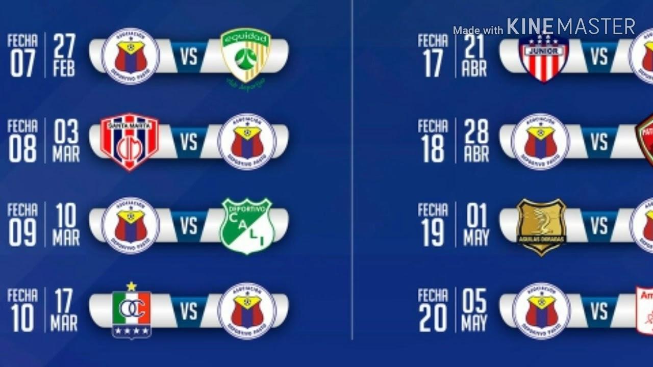 Calendario Liga Segunda.Calendario Liga Aguila 2019 Segunda Parte Deportivo Pasto