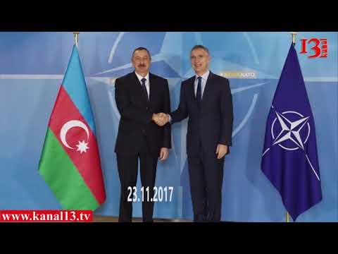 Prezident İlham Əliyev Brüsseldə NATO nun baş katibi ilə görüşdü