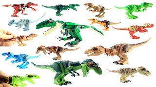 15 Lego Tyrannosaurus rex Dinosaurs - Lego and Lego compatible T-Rex Toys - Jurassic World Dinos