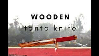 How to Make Tanto knife ( WOODEN ) | Ninja warrior  Wooden Weapon